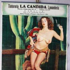 Carteles: CARTEL PIN UP EROTICO .AÑO 1958 FELICITACION FIESTAS- CARACAS. Lote 50121685