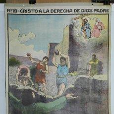 Carteles: CARTEL RELIGION Nº 19, ENSEÑANZA DEL CATECISMO CATEQUESIS ESCUELA ILUSTRADOR J. LLIMONA, CRISTO A L. Lote 50183040
