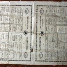 Carteles: ANTIGUO CARTEL CALENDARIO 1948. CALENDARIUM CARTUSIENSE LITTERA DOMINICALIS MARTYROLOGII. Lote 50246254