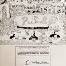 Carteles: AFFICHE EXPO ANA FERNANDEZ 1978 -CARTEL OFICIAL- PINTURA Y DIBUJO ASTURIANOS. Lote 50253659