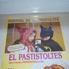 Carteles: CARTEL DE PASTELERIA CARNAVAL PASTISTOLTES SEGURA VIUDAS - GREMI PROVINCIAL PASTISSERIA BARCELONA. Lote 50293675