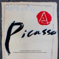 Carteles: HOMENATGE A PICASSO, 1981. GALERIA TRAÇ, BARCELONA. 50X65 CM.. Lote 50318103