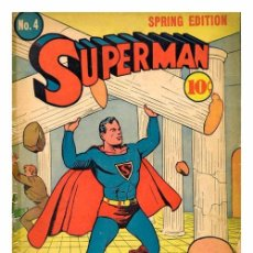 Carteles: SUPER MAN. LÁMINA CARTEL DEL COMIC. 45 X 32 CMS.. Lote 51137116