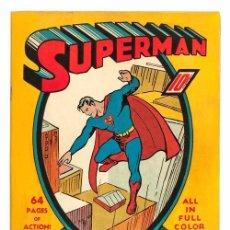 Carteles: SUPER MAN. LÁMINA CARTEL DEL COMIC. 45 X 32 CMS.. Lote 51137132