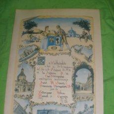 Carteles: CARTEL DE RECORDATORIO FAMILIAR DE MATRIMONIO-AVELY ORLA- ORLAS-.VALLADOLID AÑO 1970.. Lote 51211183