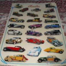 Carteles: CARTEL - CLASSICS CARS - 97 X 68 CMS.. Lote 51652296
