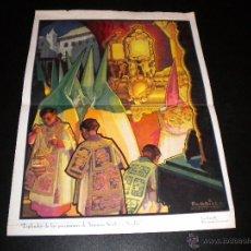 Carteles: ESPLENDOR DE LAS PROCESIONES DE SEMANA SANTA EN SEVILLA / PARRILLA / 1935. Lote 51689768