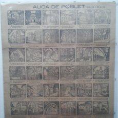 Carteles: POBLET - AUCA DE JOSE MARIA DE SEGARRA - AÑO 1935. Lote 52162085