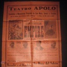 Carteles: CARTEL ESPECTACULOS,CINE MUDO TEATRO APOLO VILANOVA I GELTRU-AÑO 1931 - MIDE 43 X 60 CM.. Lote 52634380
