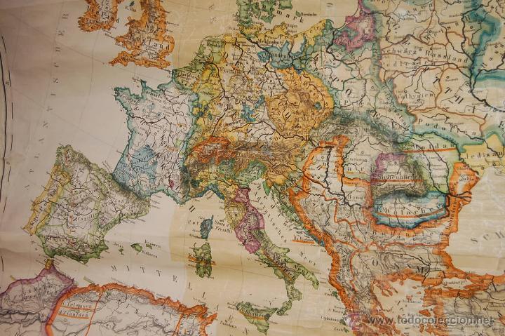 ANTIGUO CARTEL, MAPA MURAL ALEMÁN DE GRAN TAMAÑO. EUROPA EN EL SIGLO XVI (Coleccionismo - Carteles Gran Formato - Carteles Varios)