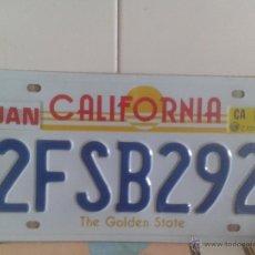Carteles: PLACA AMERICANA- CALIFORNIA. Lote 93046834