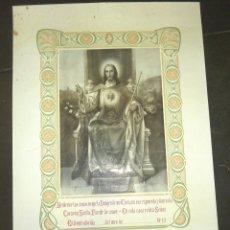 Carteles: GRAN CARTEL BENDECIRE LAS CASAS BENDICION SAGRADO CORAZON JESUS 55 / 40 CM . Lote 52803246