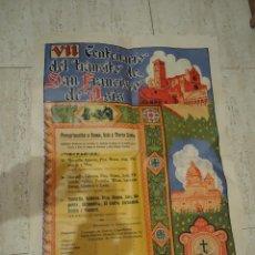 Carteles: GRAN CARTEL VII CENTENARIO DEL TRANSITO SAN FRANCISCO DE ASIS 1926. Lote 52946982