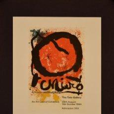 Carteles: CARTEL MIRO. THE TATE GALLERY. 29X24. LONDON. 1964. Lote 53086148