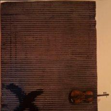 Carteles: CARTEL ANTONI TAPIES. PORTA METAL·LICA I VIOLI. 2001. 68 X 48 CM. BARCELONA. Lote 53200037