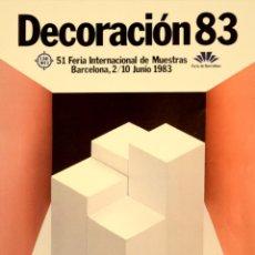 Carteles: CARTEL DECORACION 83. 40X30 CM. 1983. BARCELONA. Lote 53319429