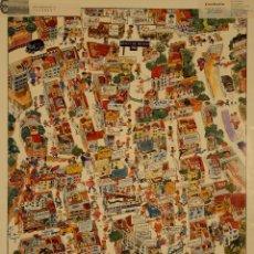 Carteles: CARTEL SARRIA. CA. 1980. BARCELONA. 64X44 CM. Lote 53351894