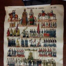 Cartazes: PÓSTER / CARTEL PROCESIÓN DE CORPUS, Nº 378 CM. Lote 53853835