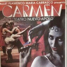 Carteles: CARTEL GIGANTE. BALLET FLAMECO MARIA CARRASCO..ENVIO INCLUIDO EN EL PRECIO.. Lote 53997852