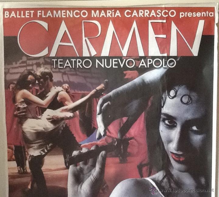 Carteles: CARTEL GIGANTE. BALLET FLAMECO MARIA CARRASCO..ENVIO INCLUIDO EN EL PRECIO. - Foto 3 - 53997852