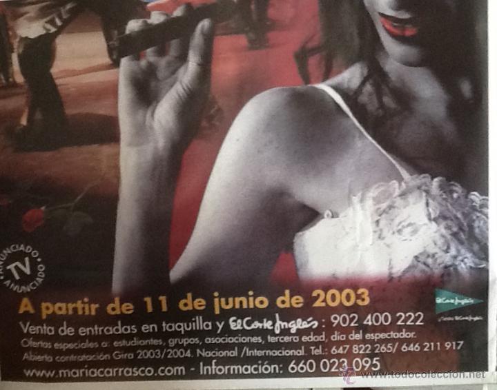Carteles: CARTEL GIGANTE. BALLET FLAMECO MARIA CARRASCO..ENVIO INCLUIDO EN EL PRECIO. - Foto 4 - 53997852