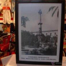 Carteles: ALMERIA MONUMENTO A LOS COLORAOS GRAN FORMATO 60X42 CMS. Lote 54014499