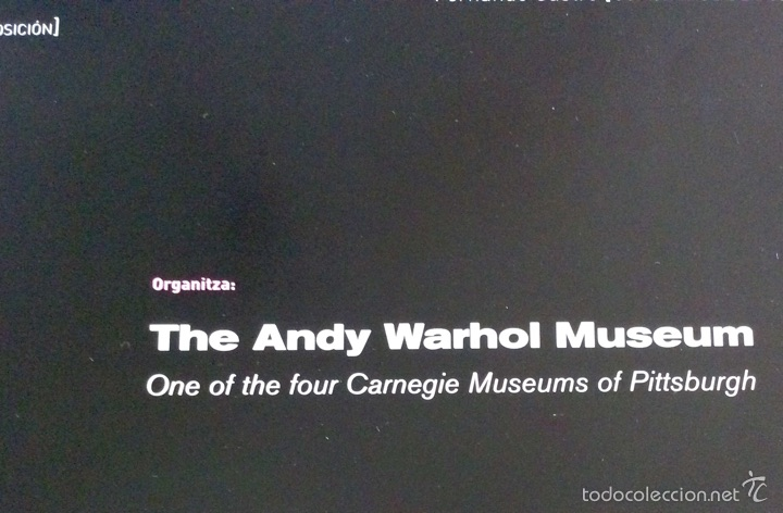 Carteles: Envío 8€ Cartel litográfico exposición ANDY WARHOL SUPERESTAR 60x42cm - Foto 5 - 208988722