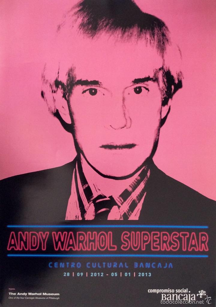 Carteles: Envío 8€ Cartel litográfico exposición ANDY WARHOL SUPERESTAR 60x42cm - Foto 4 - 208988722