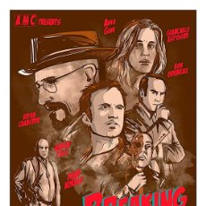 Carteles: BREAKING BAD. SERIE TV. LÁMINA CARTEL 45 X 32 CMS. Lote 54758194