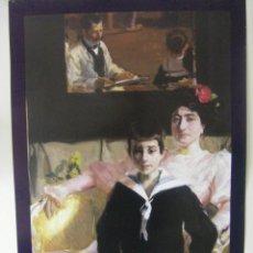 Carteles: CARTEL DE LA EXPOSICIÓN BENLLIURE Y EL RETRATO DE FAMILIA, EN ITALIANO ROMA AÑO 1998. Lote 55045448