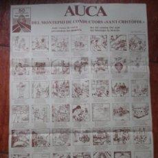 Carteles: AUCA DEL MONTEPIO DE CONDUCTORS SANT CRISTOFOL, 50 ANIVERSARI 1930-80 MANRESA BERGA. Lote 55100802