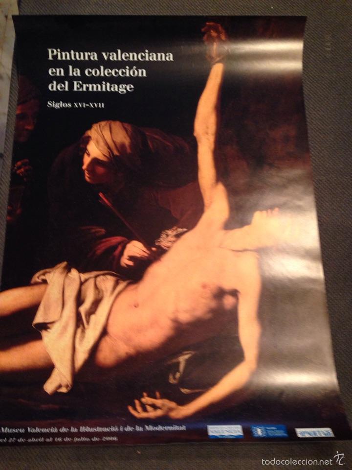 CARTEL PINTURA VALENCIANA EN LA COLECCION DEL ERMITAGE SIGLOS XVI-XVII (Coleccionismo - Carteles Gran Formato - Carteles Varios)