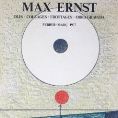 Carteles: MAX ERNST. GALERIA JOAN PRATS 1977. Lote 56748768