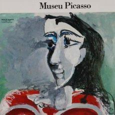 Carteles: MUSEU PICASSO. DE PABLO A JAQUELINE. Lote 57159850