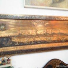 Carteles: PRECIOSO CARTEL DE COBRE EN RELIEVE DE LA CIUDAD DE HAMBURGO. Lote 57202940