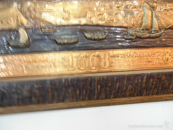 Carteles: Precioso cartel de cobre en relieve de la ciudad de Hamburgo - Foto 2 - 57202940