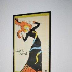 Carteles: CARTEL EXPOSICIÓN TOULOUSE LAUTREC - SALA DE EXPOSICIONES CAJA DE BARCELONA, MADRID 1985 -JANE AVRIL. Lote 57206008