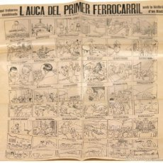 Carteles: LP-267 - L'AUCA DEL PRIMER FERROCARRIL. EUSEBI VIDIELLA. ABADAL. CENTENARI 1848-1948.. Lote 57378533