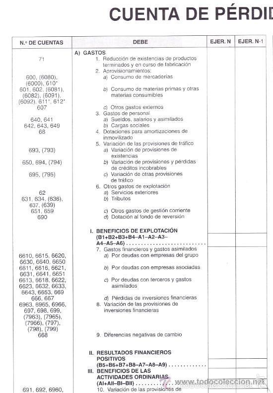 cartel resumen del plan general de contabilidad - Comprar en ...