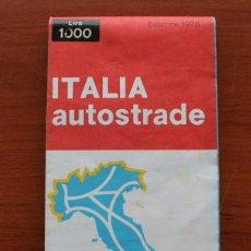 Carteles: TODA ITALIA AUTOSTRADE AUTOSTRADA MAPA MUY COMPLETO DETALLADO CARRETERAS PEAJE - FOTOS ADICIONALES. Lote 57855839