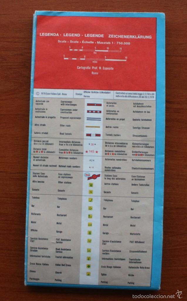 Carteles: TODA ITALIA AUTOSTRADE AUTOSTRADA MAPA MUY COMPLETO DETALLADO CARRETERAS PEAJE - FOTOS ADICIONALES - Foto 2 - 57855839