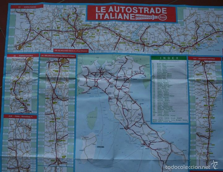Carteles: TODA ITALIA AUTOSTRADE AUTOSTRADA MAPA MUY COMPLETO DETALLADO CARRETERAS PEAJE - FOTOS ADICIONALES - Foto 3 - 57855839