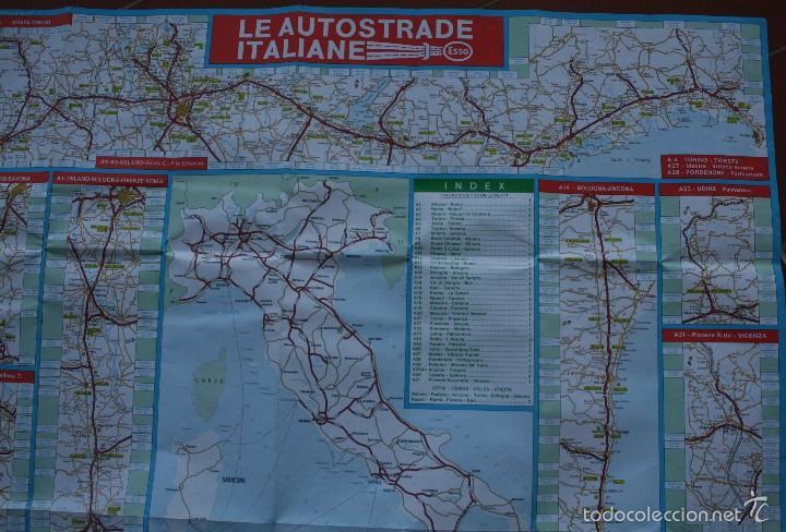 Carteles: TODA ITALIA AUTOSTRADE AUTOSTRADA MAPA MUY COMPLETO DETALLADO CARRETERAS PEAJE - FOTOS ADICIONALES - Foto 4 - 57855839