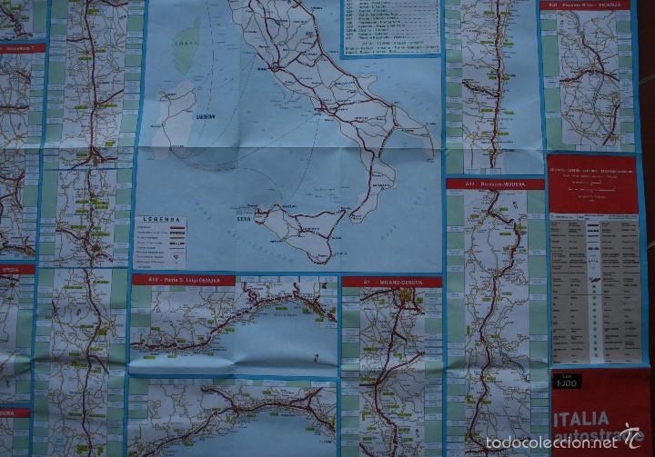 Carteles: TODA ITALIA AUTOSTRADE AUTOSTRADA MAPA MUY COMPLETO DETALLADO CARRETERAS PEAJE - FOTOS ADICIONALES - Foto 5 - 57855839