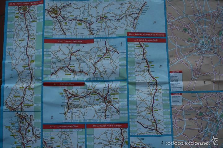 Carteles: TODA ITALIA AUTOSTRADE AUTOSTRADA MAPA MUY COMPLETO DETALLADO CARRETERAS PEAJE - FOTOS ADICIONALES - Foto 8 - 57855839