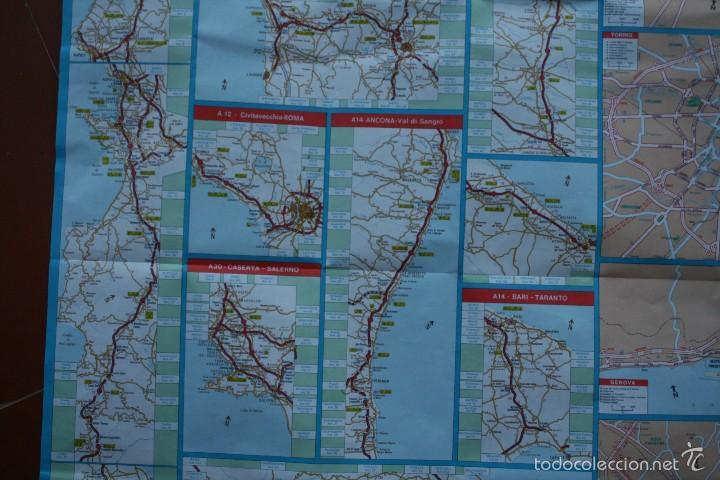Carteles: TODA ITALIA AUTOSTRADE AUTOSTRADA MAPA MUY COMPLETO DETALLADO CARRETERAS PEAJE - FOTOS ADICIONALES - Foto 9 - 57855839