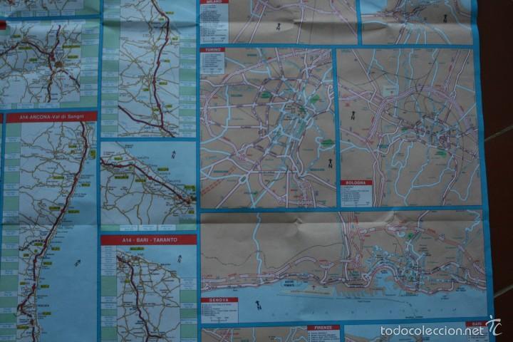 Carteles: TODA ITALIA AUTOSTRADE AUTOSTRADA MAPA MUY COMPLETO DETALLADO CARRETERAS PEAJE - FOTOS ADICIONALES - Foto 10 - 57855839