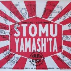 Carteles: STOMU YAMASH'TA. CARTEL CONCIERTO EN SALA PARADISO, AMSTERDAM 1987. Lote 58372676