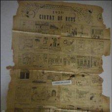 Carteles: AUCA CIUTAT DE REUS 1950 - DEFECTUOSA. Lote 58635157