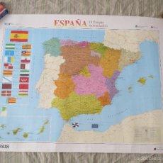 Carteles: POSTER MAPA ESPAÑA EL ESTADO AUTONOMICO EL PAIS CENTRAL HISPANO 1995 MEDIDAS 70X100 APROX AUTONOMIA.. Lote 60114283